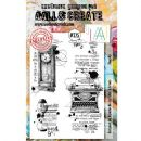 AALL and Create Clear A5 Stamp Set #325 Time Up by Bipasha BK